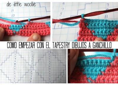 Tapestry a crochet como se tejen dibujos en el tejido y mas