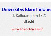 LOWONGAN KERJA TERBARU UNIVERSITAS ISLAM INDONESIA HINGGA 14 APRIL 2016