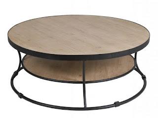 mesa de forja y madera rustica