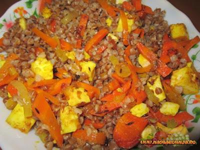 Панир с морковью и луком