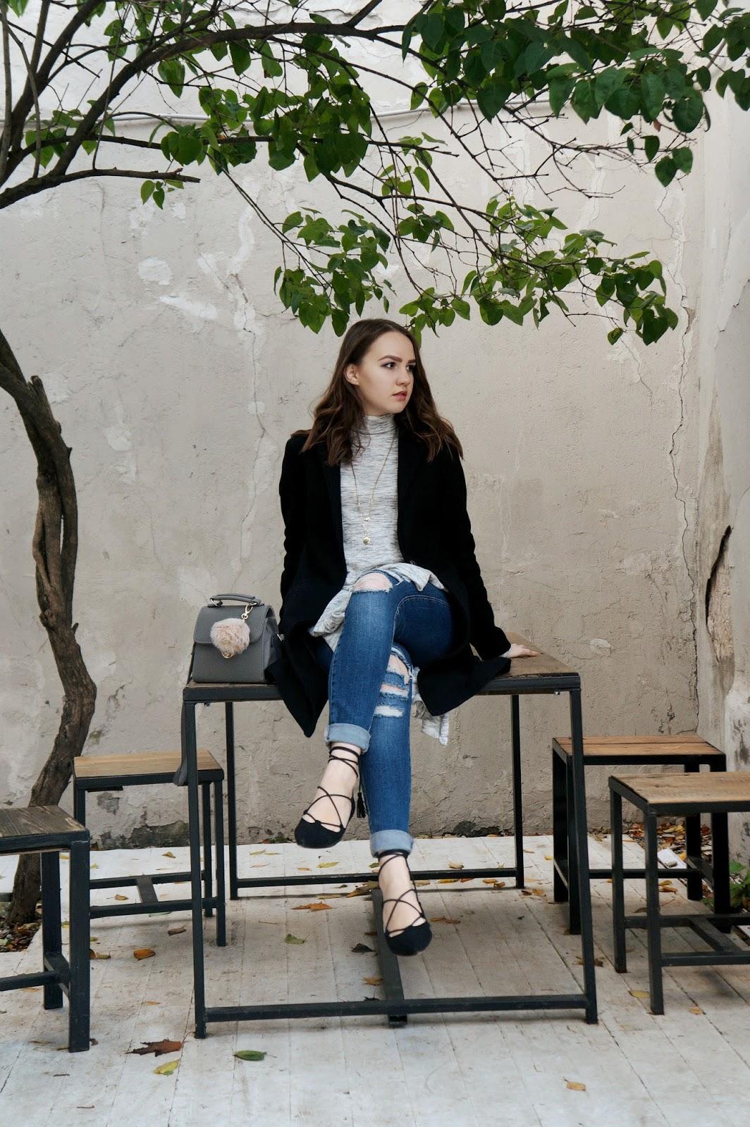 Alina Ermilova | Lace Up Flats