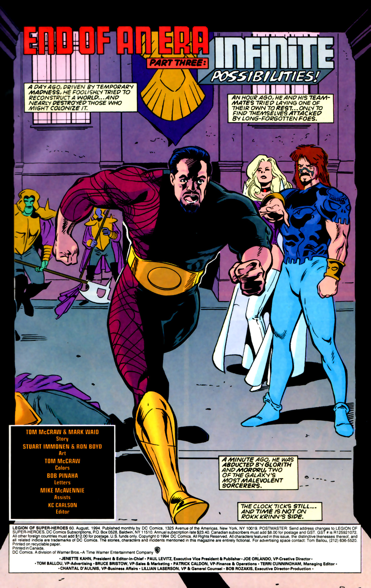 Legion of Super-Heroes (1989) 60 Page 1