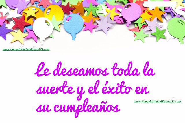 Feliz cumpleaños Deseos en inglés