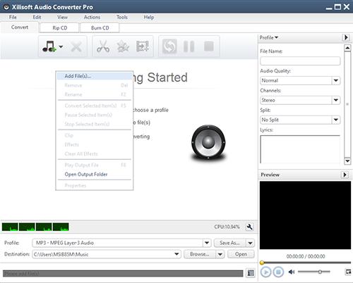 Cara Mengubah File Video Menjadi File MP3 Dengan Xilisof Audio Conventer