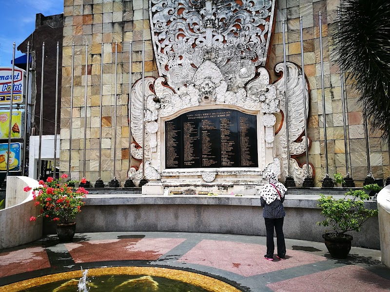 Kuta Monument and W Hotel Entrance, Seminyak