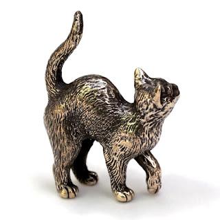 фигурки котов купить статуэтку кот бронзовая кошка на полку
