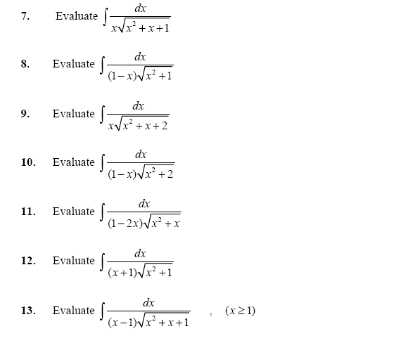 Integration of Irrational Algebraic and Transcendental Functions, Application of Integration