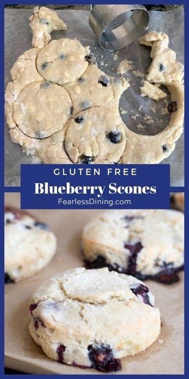 The Best Gluten Free Blueberry Scones