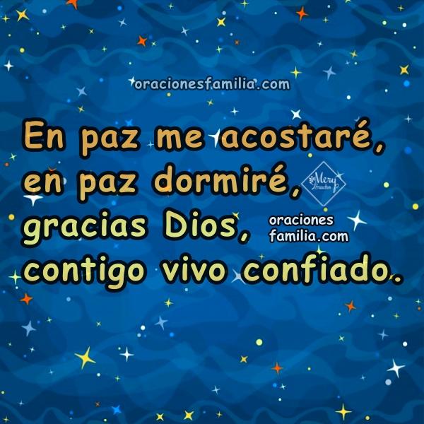Oración para dormir y descansar tranquilo, buenas noches con oraciones cortas con lindas imágenes por Mery Bracho.