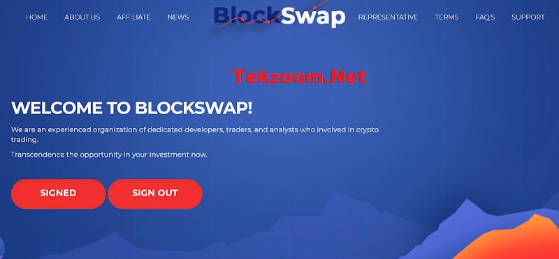 [SCAM] BlockSwap.biz [HK] - Site chiến nhanh đến từ Hong Kong lãi từ 6% hằng ngày