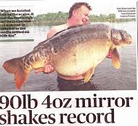 Rainbow Lake Frankrijk spiegelkarper record