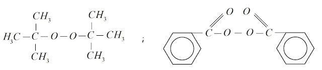 peroxido de terc-butila peroxido de benzoíla