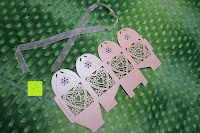 1 Set: 50pcs Love Heart Laser Wedding Favor Gift Box Kartonage Schachtel Bonboniere Geschenkbox Hochzeit (Pink)