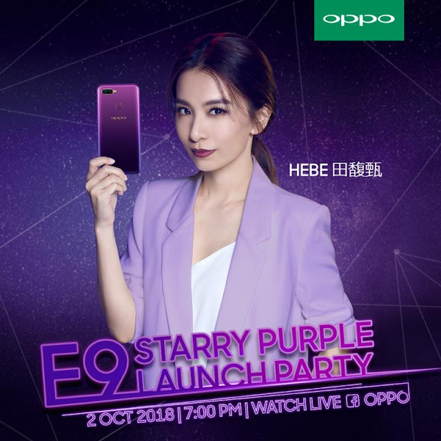 OPPO F9 Starry Purple with Hebe Tien and Ayda Jebat