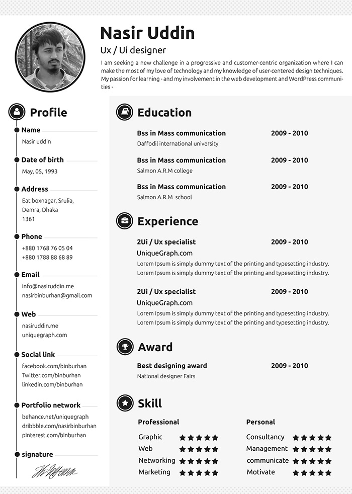 Resume Templates Free Download Doc  Resume Sample