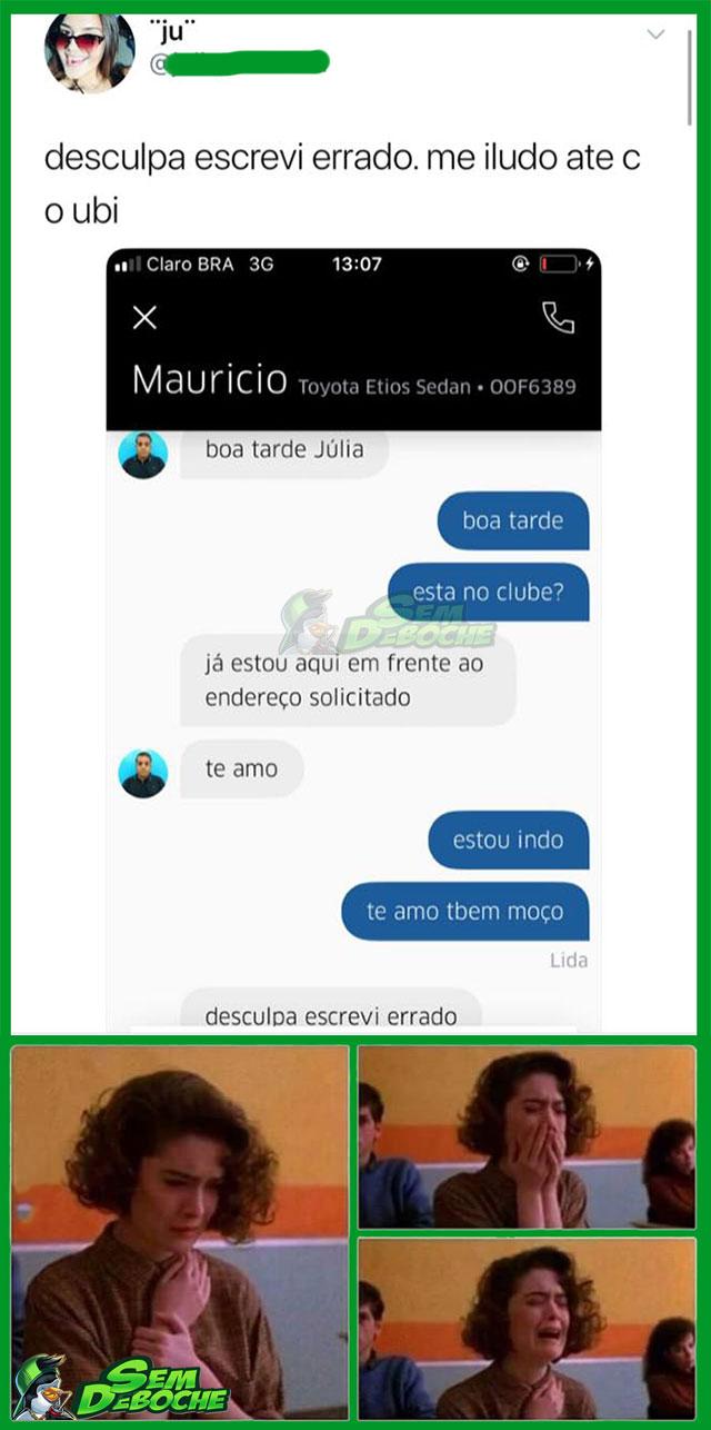 SE ILUDINDO ATÉ COM MOTORISTA DE UBER