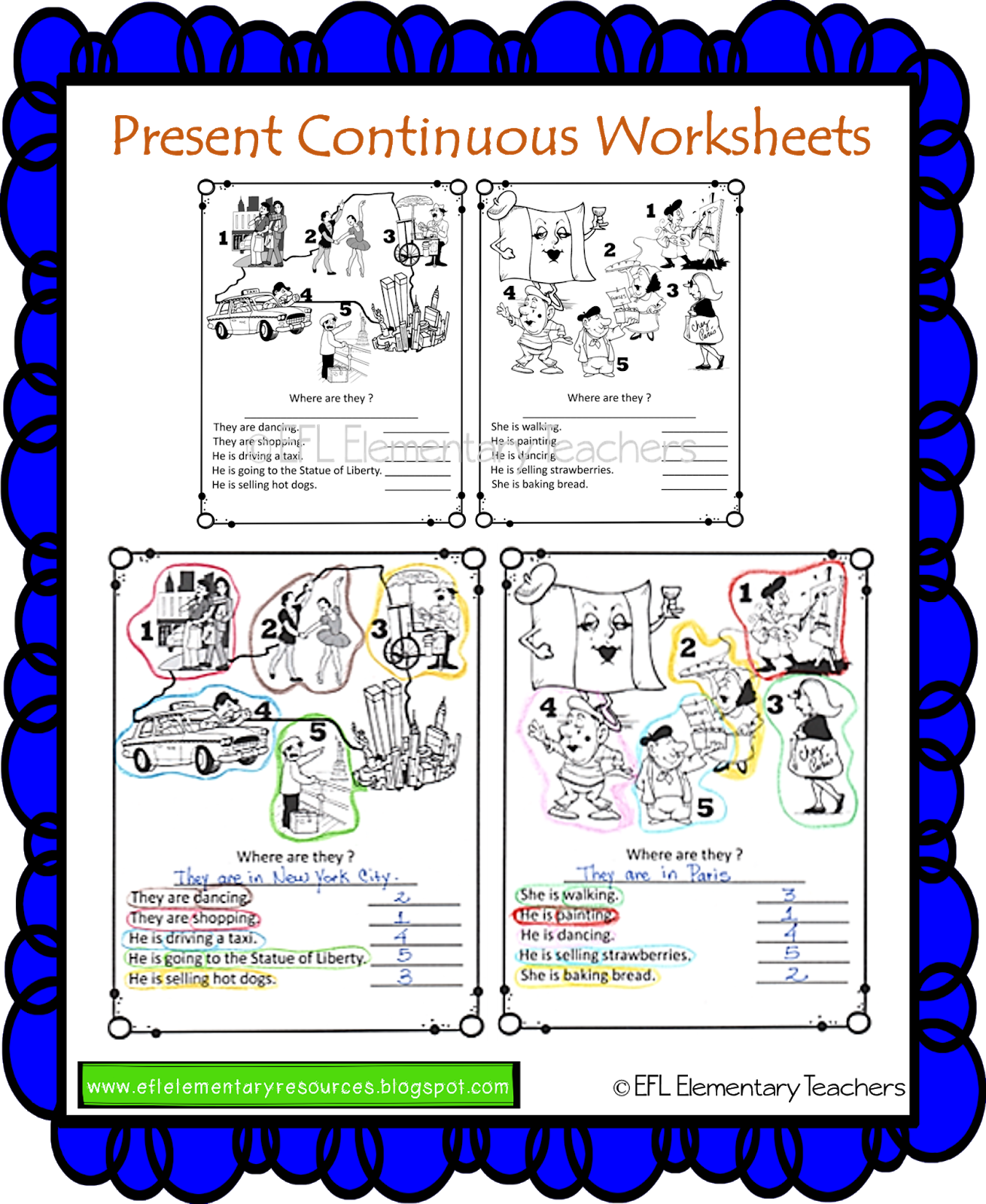 Efl Elementary Teachers Present Continuous Part 2