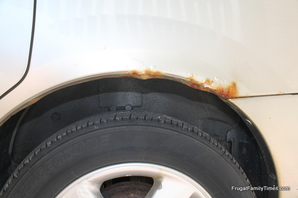 how to cover rust on car