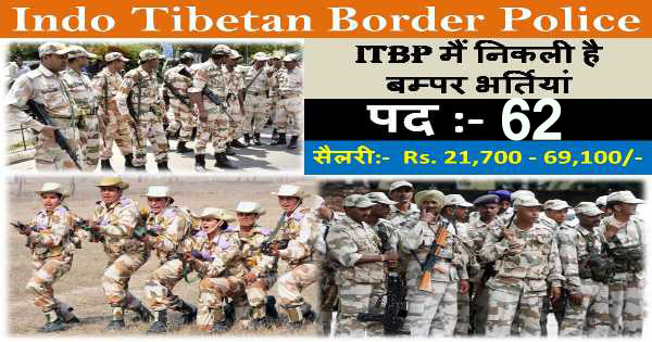 Itbp Head Constable Online Form 2017: ITBP Recruitment Of Head Constable 2018