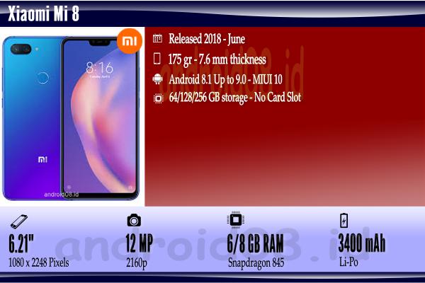 Spesifikasi Xiaomi Mi 8