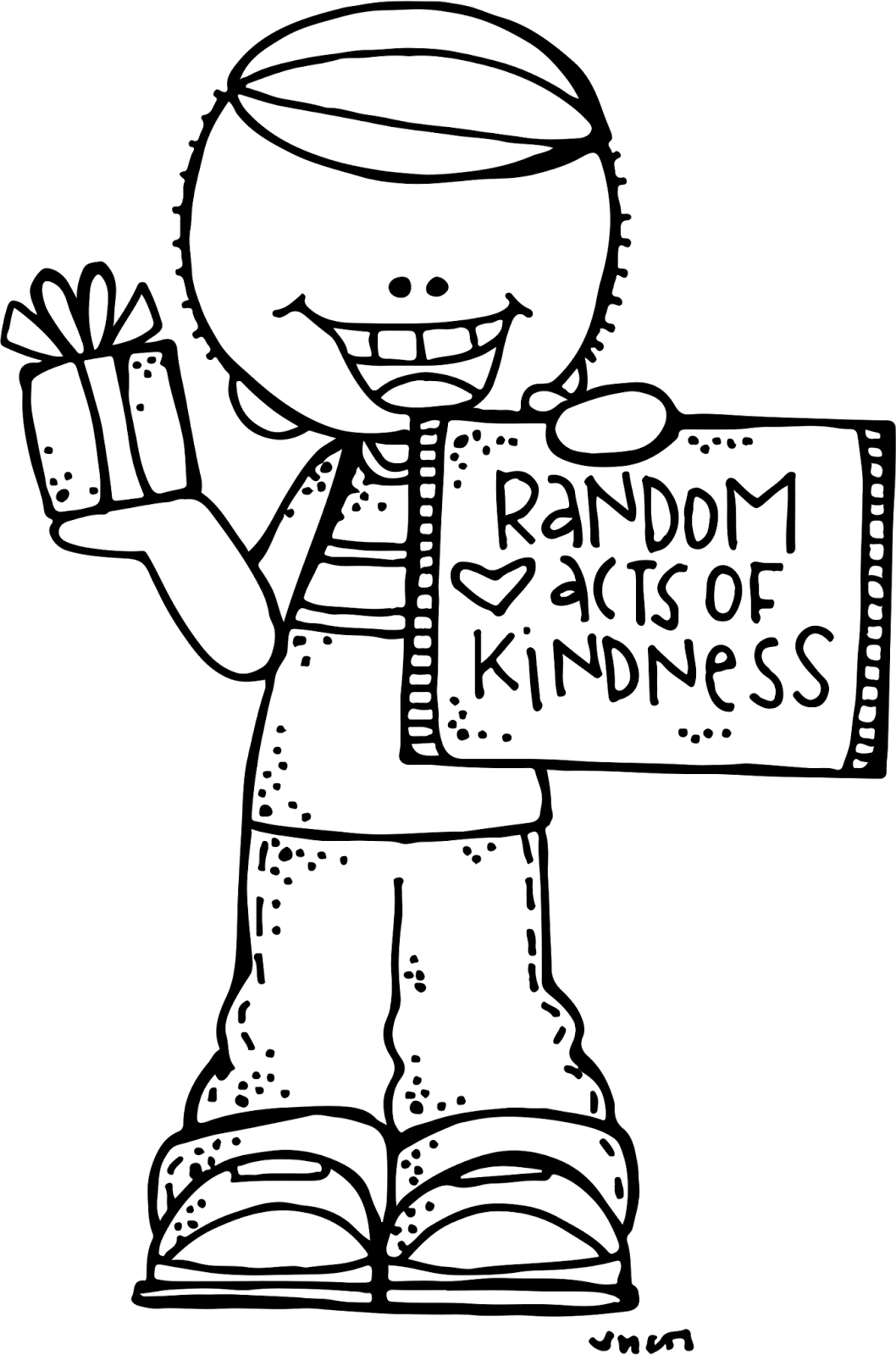coloring pages acts of kindness - melonheadz