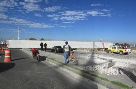 Camino de concreto en Toluca