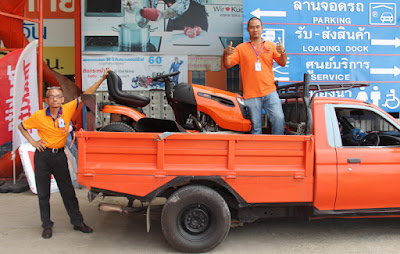 Buriram Thailand Ariens USA Ride on Lawn Mower Delivery
