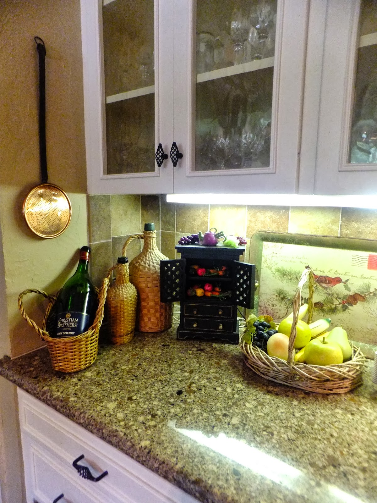 Ash tree cottage accessorizing kitchen counters for How to decorate a kitchen counter