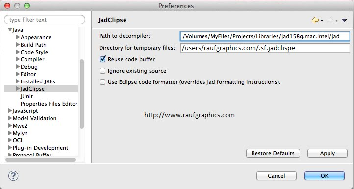 JADClipse Eclipse 3.3.0 Plugin Free Download