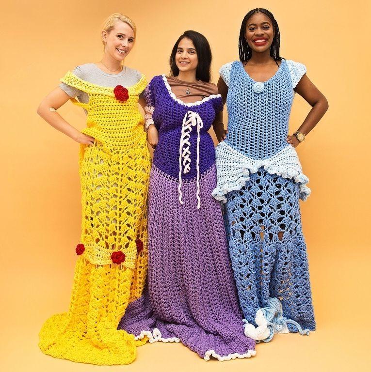 Estas mantas de princesa de ganchillo parecen vestidos de princesas ...