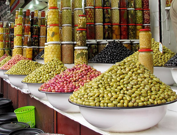 Olives market in Marocco