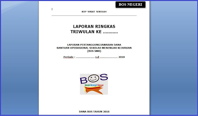Donwload Form Laporan Ringkas dana BOS Triwulan I dan II Provinsi Jawa Tengah
