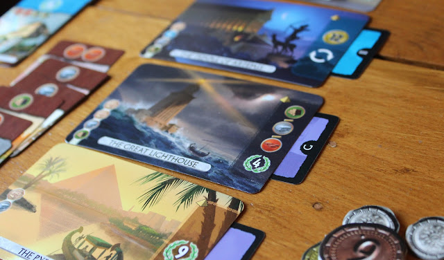 7 Wonders: Duel - wonder cards built