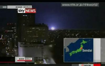 Luces durante terremoto fukushima