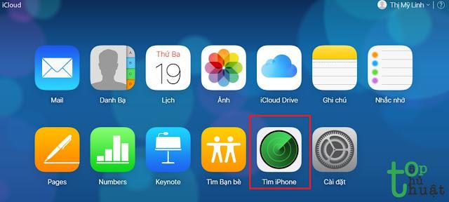 Khóa iPhone từ xa khi bị mất máy