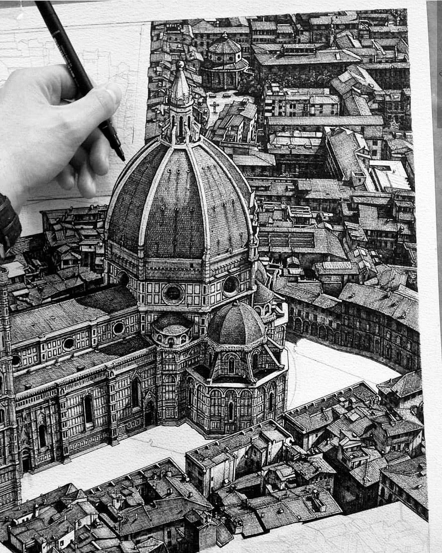 08-Piazza-Del-Duomo-Liam-Hipple-Complexity-in-Architectural-Drawings-www-designstack-co