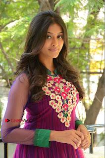 Actress Pooja Jhaveri Latest Stills in Purple Salwar Kameezt at Dwaraka Success Meet  0027.JPG