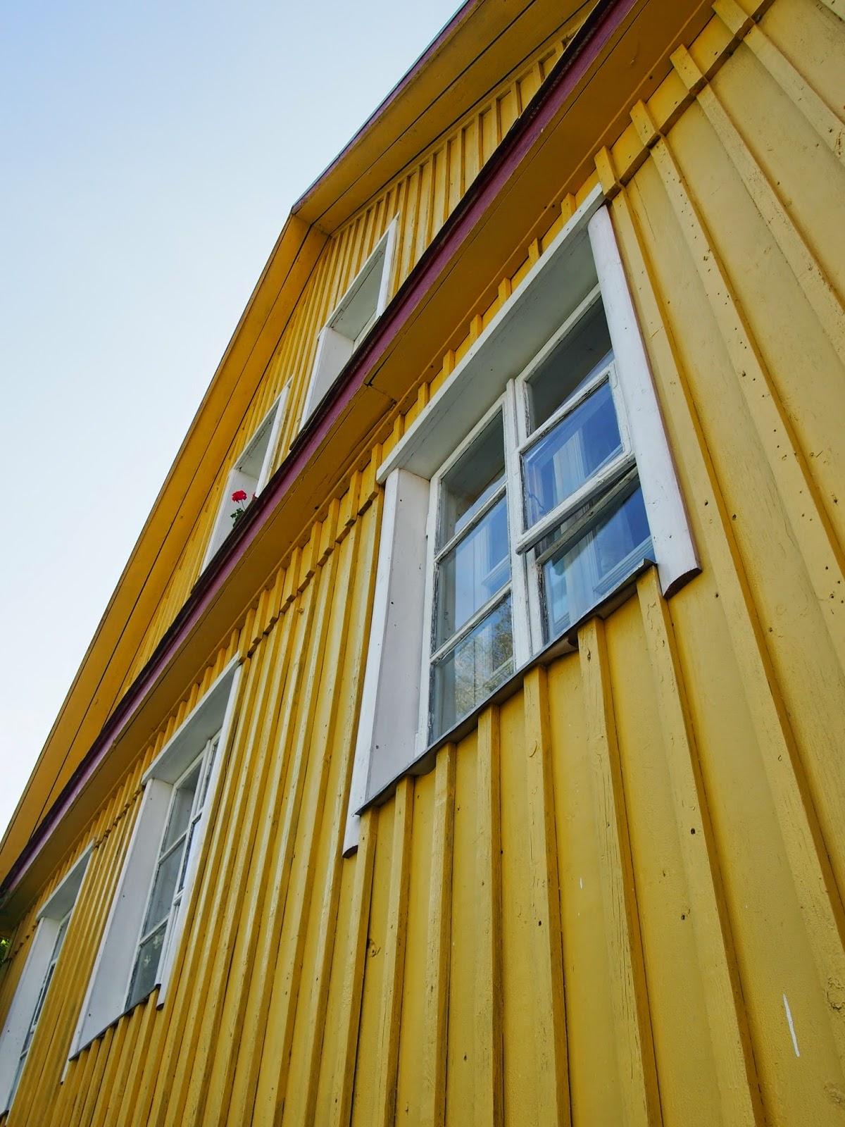 The colorful Karaites homes in Trakai, Lithuania