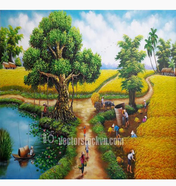 Tranh Phong cảnh dân gian việt nam