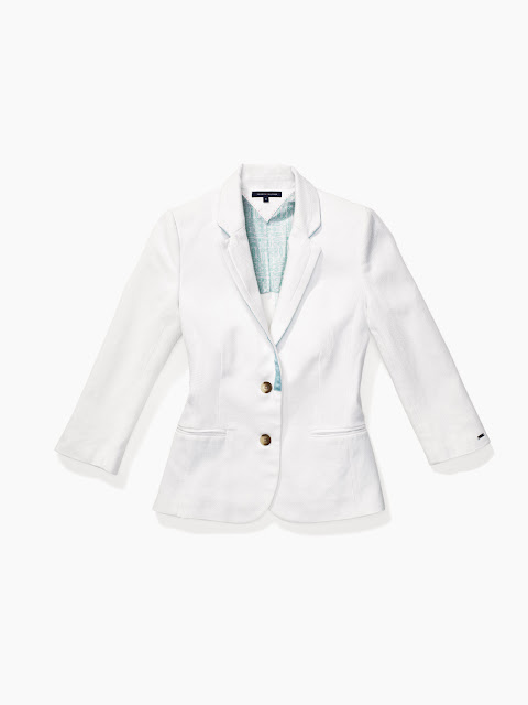 Solid White Blazer Tommy Hilfiger Surf Shack Collection