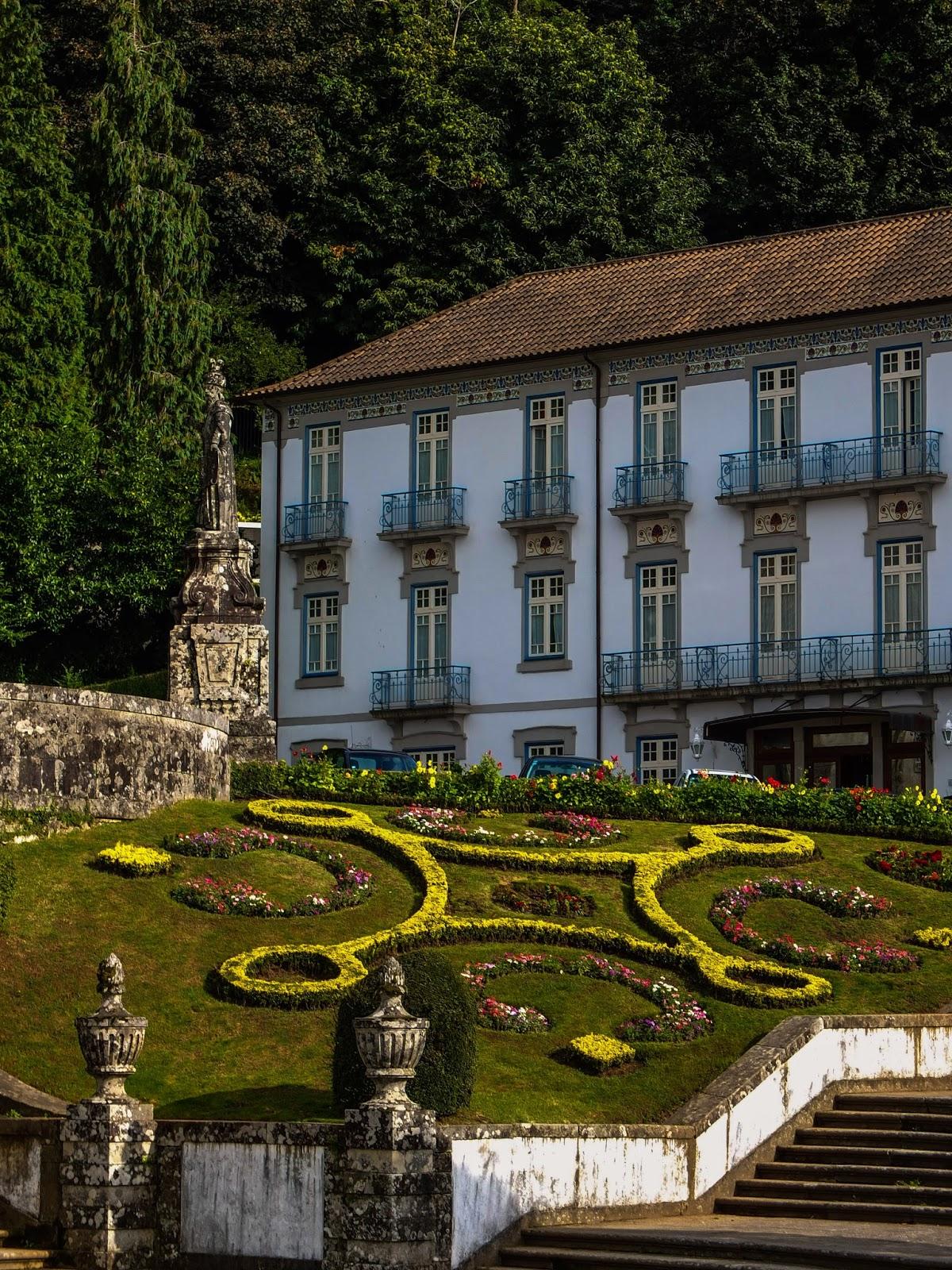 Beautiful garden designs at the Bom Jesus do Monte Sanctuary.