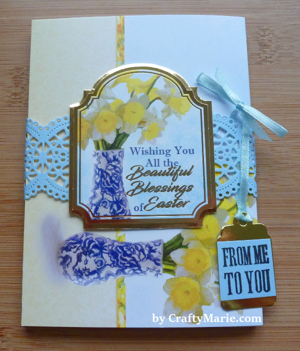 Hunkydory cardmaking collection issue 4 easter spring toppers cards papers diy notelet set craft example