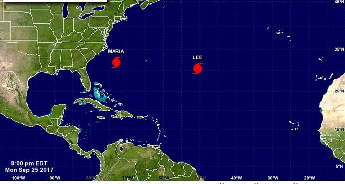 Evacúan en islas de Carolina del Norte por el huracán María
