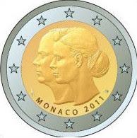Monaco 2 euroa kolikko 2011