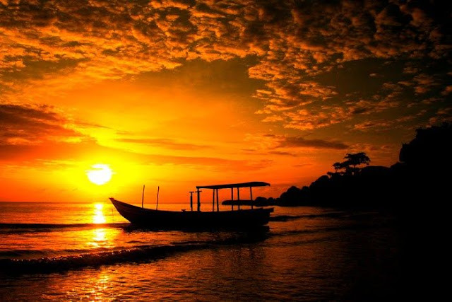 sunset belitung
