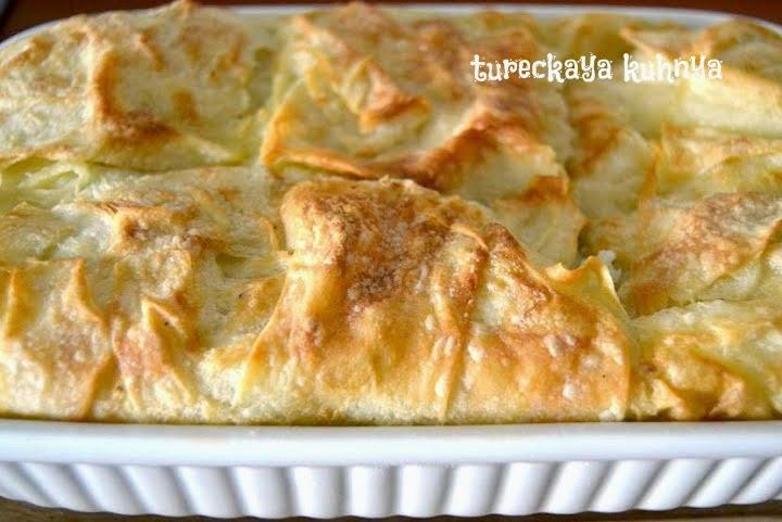 Турецкий пирог с сыром су бореги