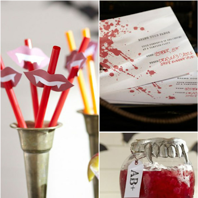 Free Vampire Themed Halloween Party Printables