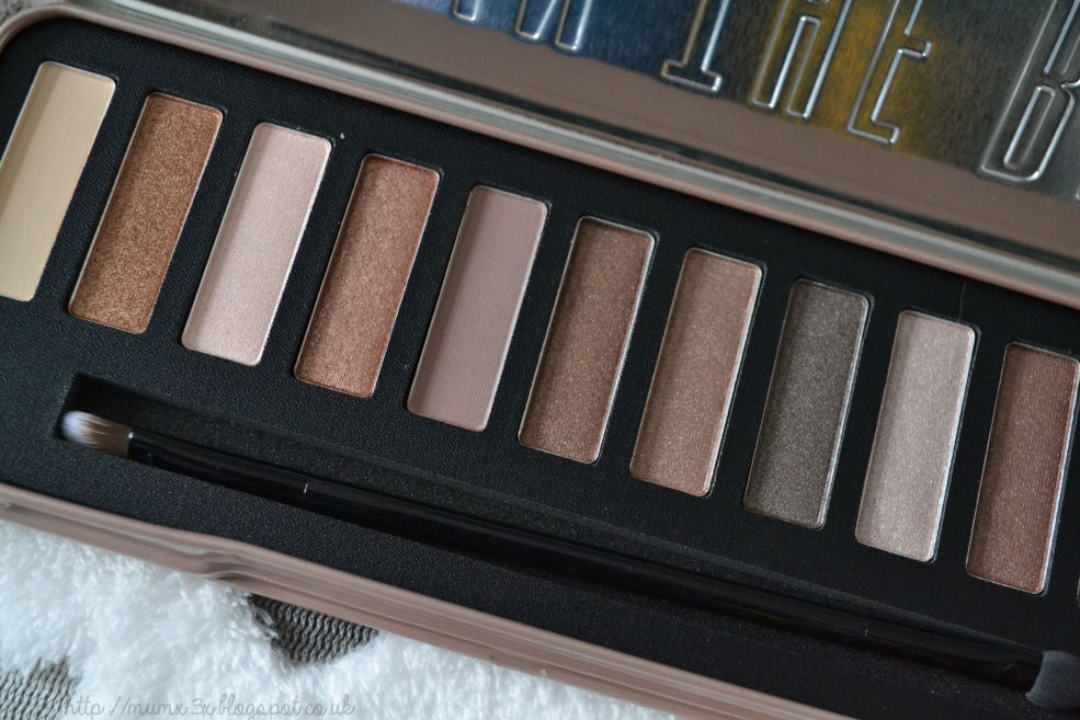 W7 in the buff natural eye shadow palette review @ ups and downs, smiles and frowns
