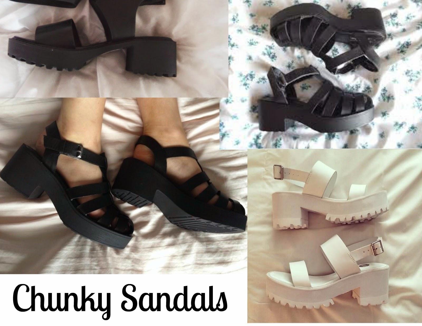 Onde comprar chunky sandals?