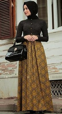 Model Baju Muslim Batik1